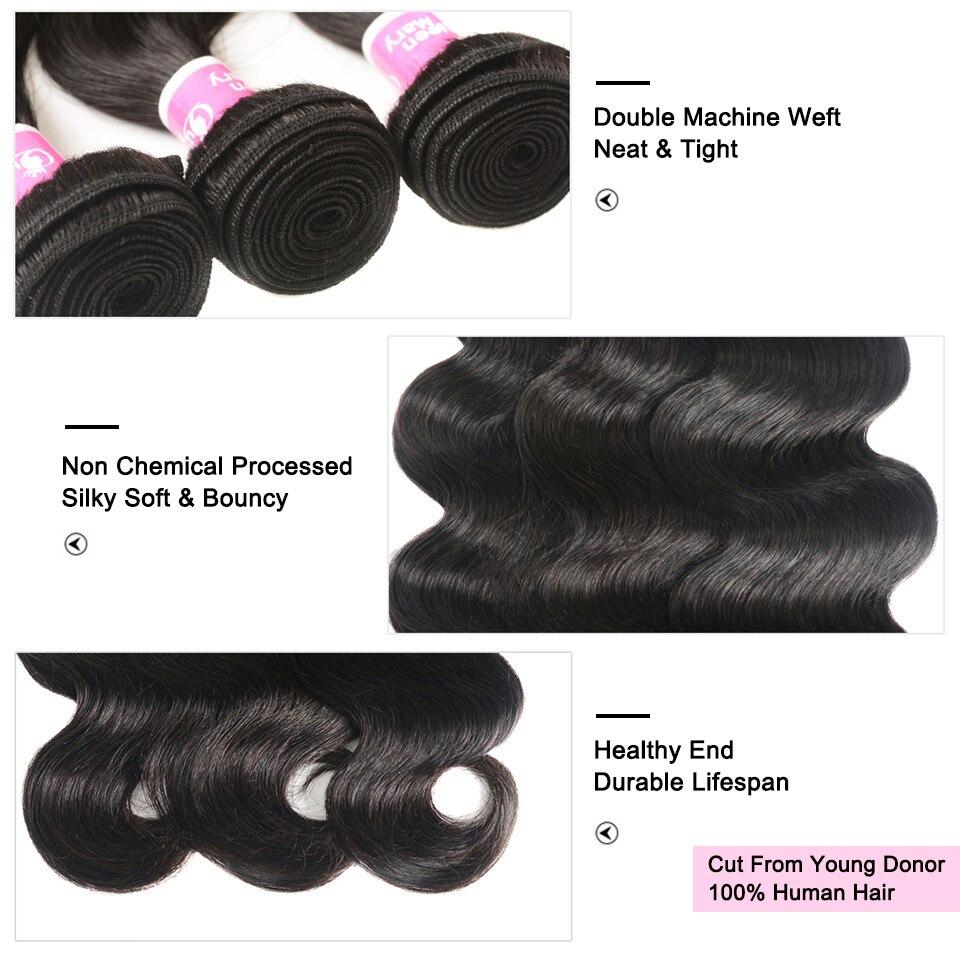 H7b3f6a0b049f4c09b0dd062a77886b58w Peruvian Hair Bundles with Closure Body Wave Bundles with Closure 3 Bundles with Closure Queen Mary Non Remy 100% Human Hair