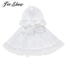 Coat Hooded-Cloak Baby-Girls Cardigan Toddlers Infants Princess Lace White Shawl Wraps