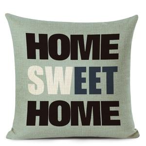 Декоративная подушка в скандинавском стиле с надписью Love, милая домашняя льняная подушка, чехол для гостиной, дивана, чехол для подушки