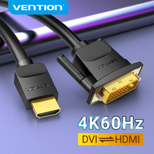 Vention kabel HDMI na DVI dwukierunkowy HDMI męski 24 + 1 DVI-D męski Adapter 1080P konwerter na Xbox HDTV DVD LCD DVI na HDMI kabel