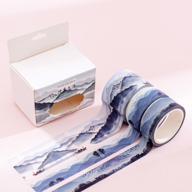 3 Pcs/pack Mountain Washi Tape Set Decorative DIY Tape Scrapbooking Sticker Label Masking Tapes School Supplies
