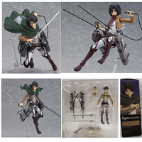 Anime Figure Attack on TitanAckerman Jaeger Mikasa  Levi Ackerman Levi  Figma 203 207 213 Figure PVC  Action Figure Collectible