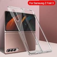 Funda de teléfono transparente para Samsung Galaxy, carcasa de protección plegable para teléfono móvil Samsung Galaxy Z Fold3 zFlip 3 flip 3 zflip3 Fold 3 5G