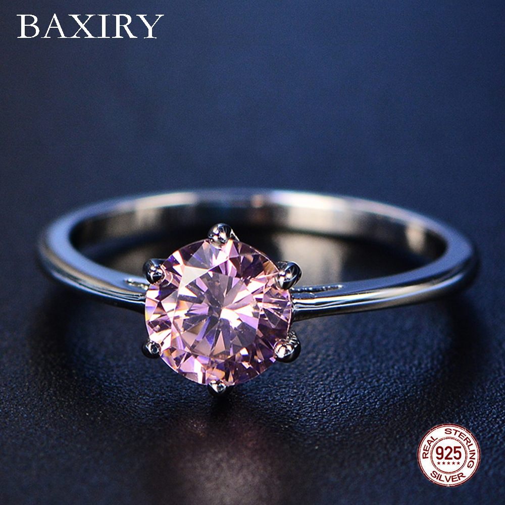 2019 New Fine Rings Trendy Blue Sapphire Ring Silver 925 Jewelry Amethyst Gemstone Ring Silver Engagement Emerald Ring For Women