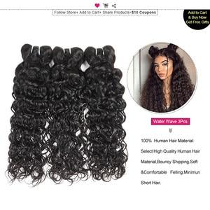 Image 2 - Ishow saç hint İnsan saç su dalgası demetleri satın 3 veya 4 adet insan saç demetleri olsun güzel hediyeler doğal renk saç örgü demetleri