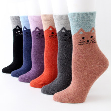 Women Cotton Cute Socks Harajuku Colorful Funny Cartoon Female Fashion Street Winter Autumn Sox 3pairs/lot #F