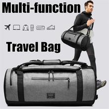 Podróży torba-worek wielofunkcyjne mężczyźni torby sportowe kobieta Fitness torby laptopa plecaki ręcznie podróży worek do przechowywania z kieszenią na buty tanie tanio Aequeen Poliester Male Gym Bag Sport Shoulder Bag zipper Wszechstronny 28cm Miękkie 56cm Stałe Moda Podróż torba