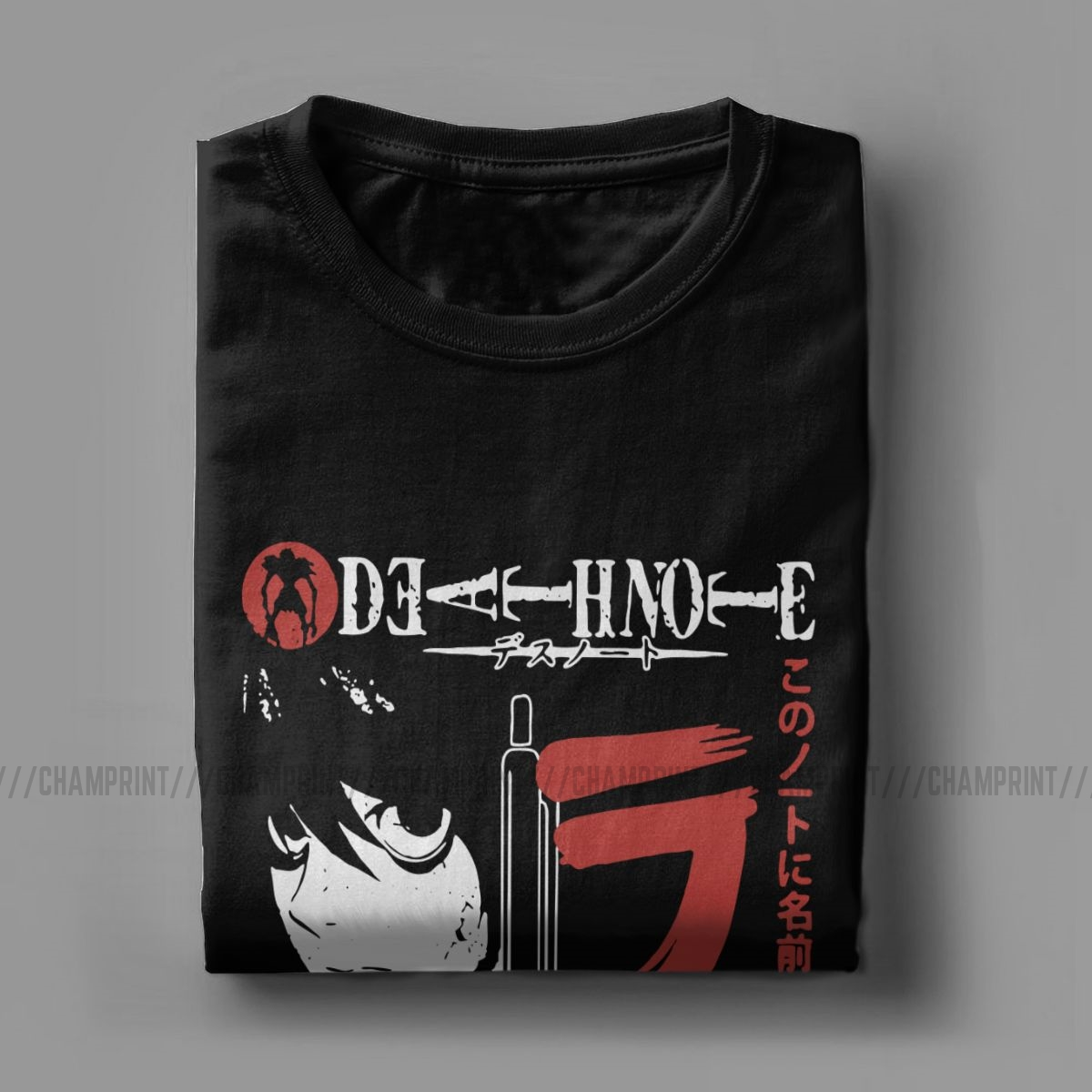 Death Note Pencil T-Shirts for Men Vintage 100% Cotton Tee Shirt Crew Neck Short Sleeve T Shirts Birthday Present Clothes
