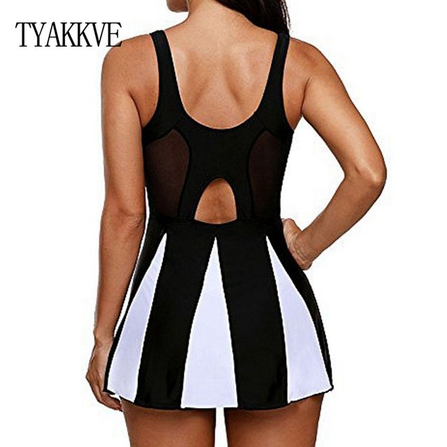 Tankini Swimsuit Women Swim Skirt Plus Size One Piece Print Swimwear 2019 Tankini Femme Vintage Large Size Swim Mesh Beach wear 1