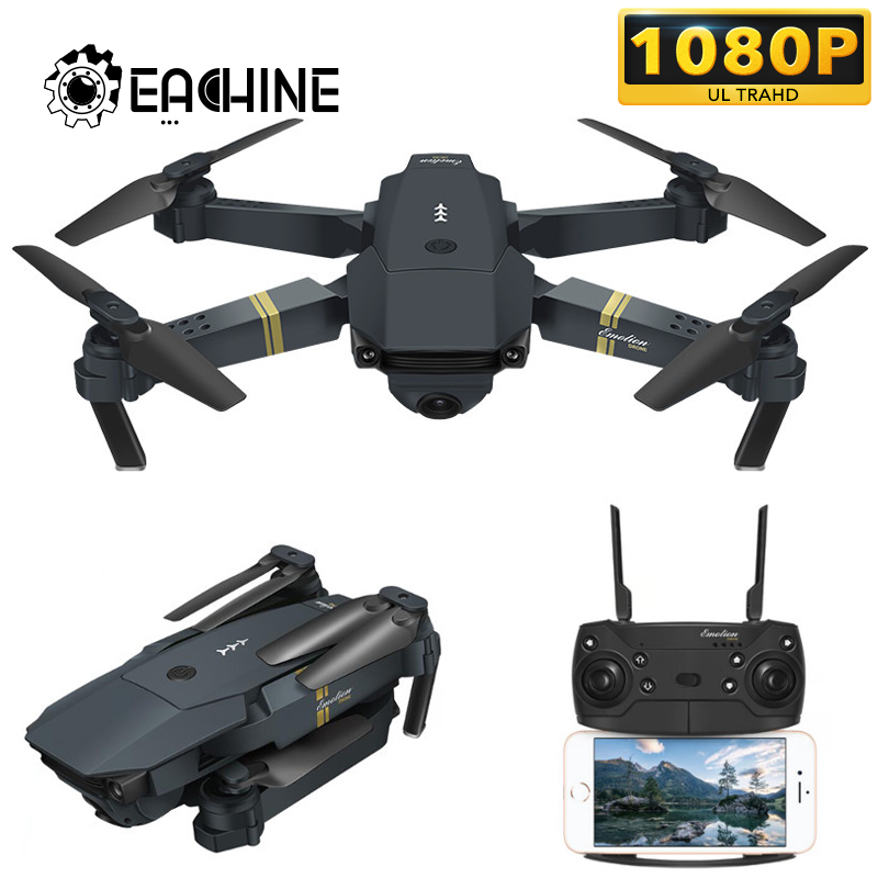 Eachine E58 True 1080P WIFI FPV With Wide Angle HD Camera High Hold Mode Foldable Arm RC Upgrade Amateur Quadcopter RTF VS M69