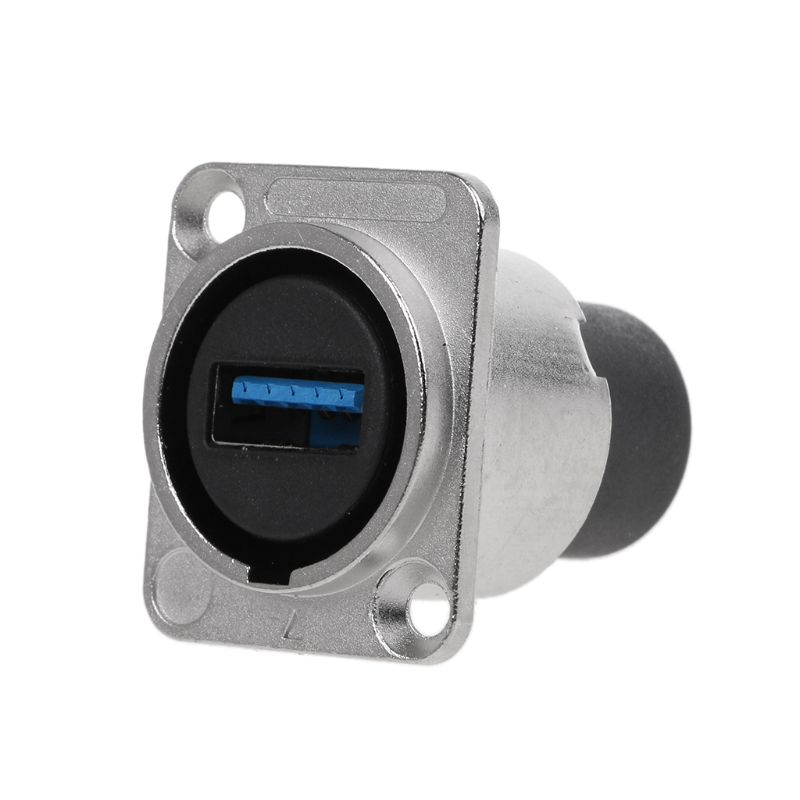 USB 3.0 Socket Metal D Type Female To Female Connector Panel Mounting Holder Adapter