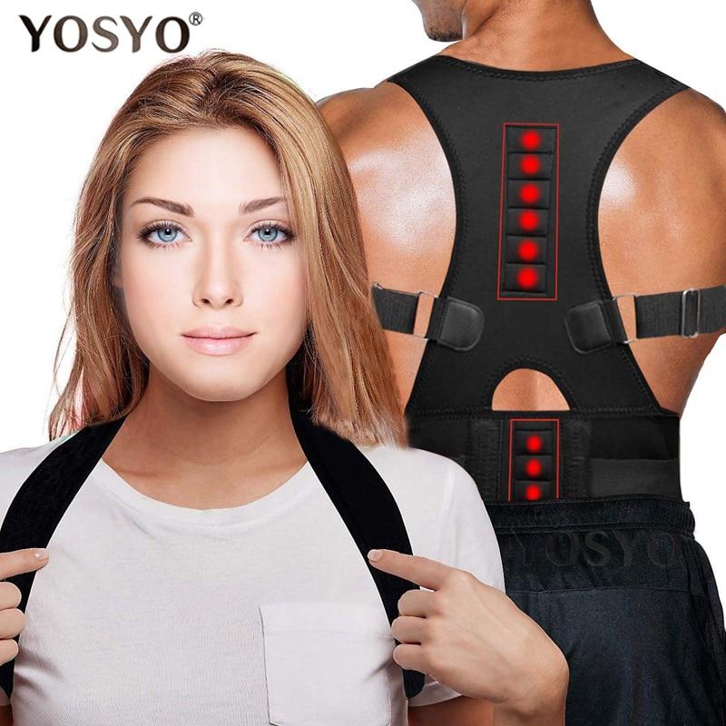 Posture Corrector Magnetic Therapy Brace Shoulder Back Support Belt for Men Women Braces & Supports Belt Shoulder Posture