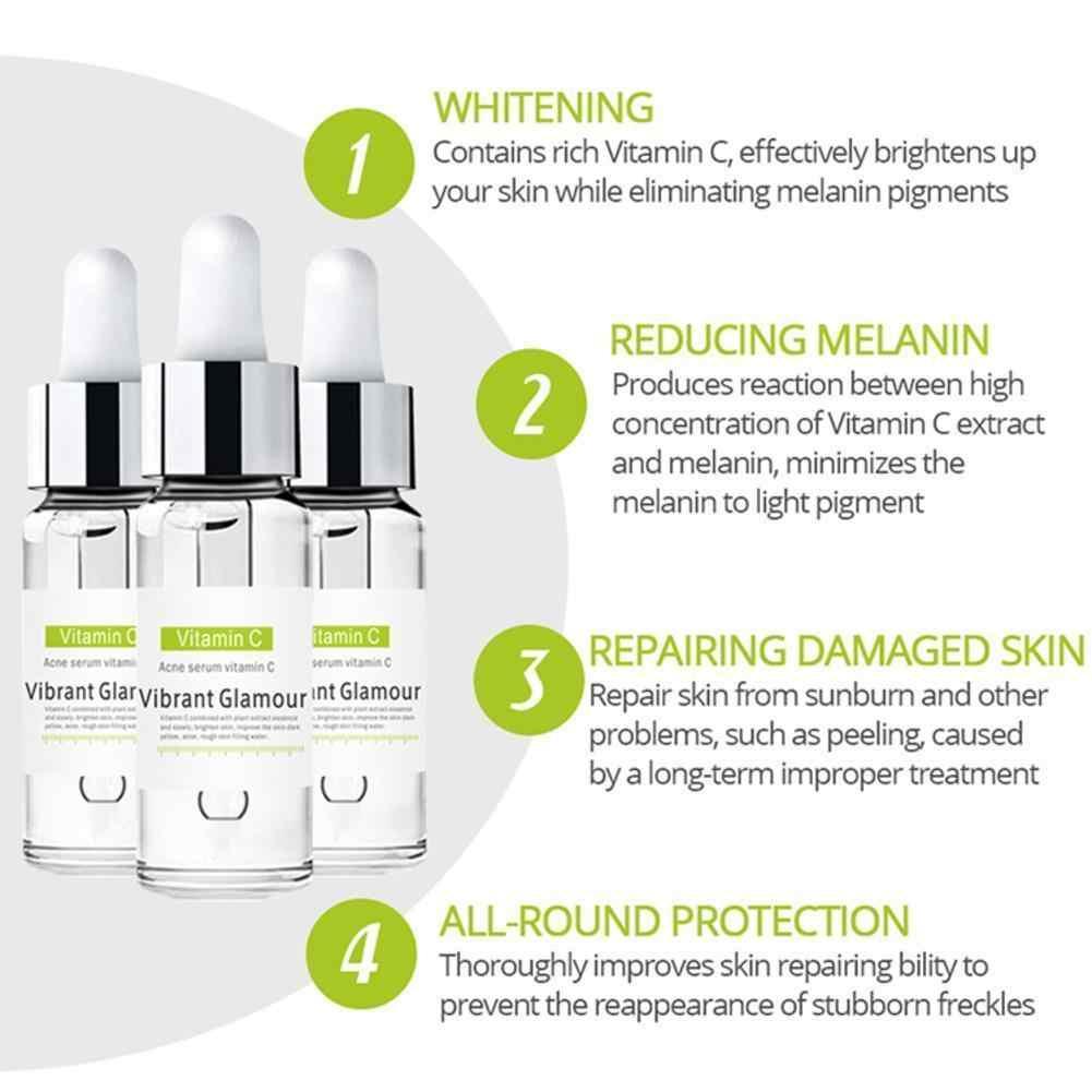 Vibrante Glamour vitamina C crema de suero facial ácido hialurónico suero facial arrugas reafirmante blanqueamiento hidratante cuidado de la piel