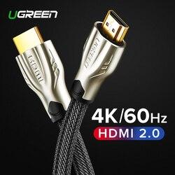 Ugreen HDMI Cabo 4K Cabo HDMI para HDMI 2.0 Cabo para Apple TV 4 PS4 K Interruptor Splitter Box extensor 60Hz Cabo de Vídeo Cabo HDMI