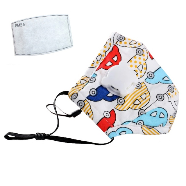 Children Mask With Breath Design Replaceable Filter Anti Dust Mouth Mask PM2.5 Respirator Kids Masks 2