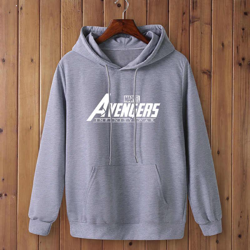 Hot marvel avengers infinity war 2020 가을/겨울 브랜드 스웨터 남성 고품질 marvel letter printing fashion mens