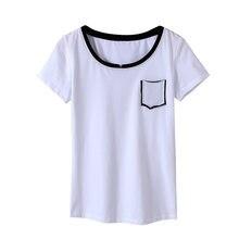 Женская хлопковая Приталенная футболка облегающая контрастных