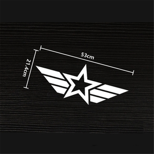 Image 2 - Car Accessories for JEEP Honda Accord Civic Mazda Opel Corsa D Coolest US Star Pattern Auto Waist line Side Door Sticker Decals