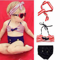 2020 New Cute Newborn Kids Baby Girls T-shirt Tops + Pants + Outfits Clothes Set 3PCS Baby's Swimsuit