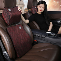 Auto speicher baumwolle kopfstütze neck kissen taille kissen Auto für BMW E70 X5 2008 2013-in Nackenkissen aus Kraftfahrzeuge und Motorräder bei