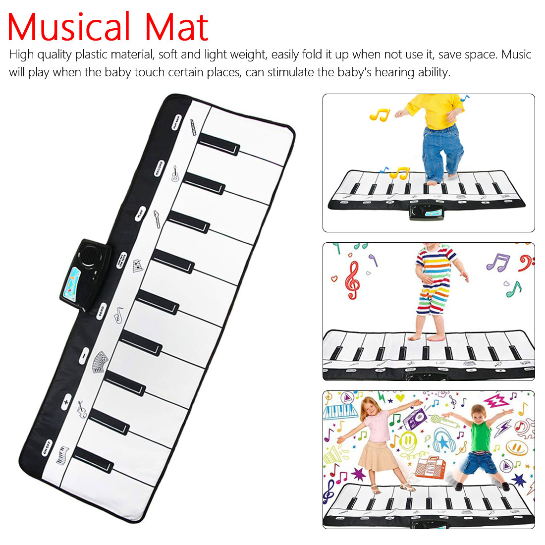 Baby Music Carpet Baby Musical Mat Children Educational Carpets Babe Infant Piano Music Play Mats Games Play Mat For Kids