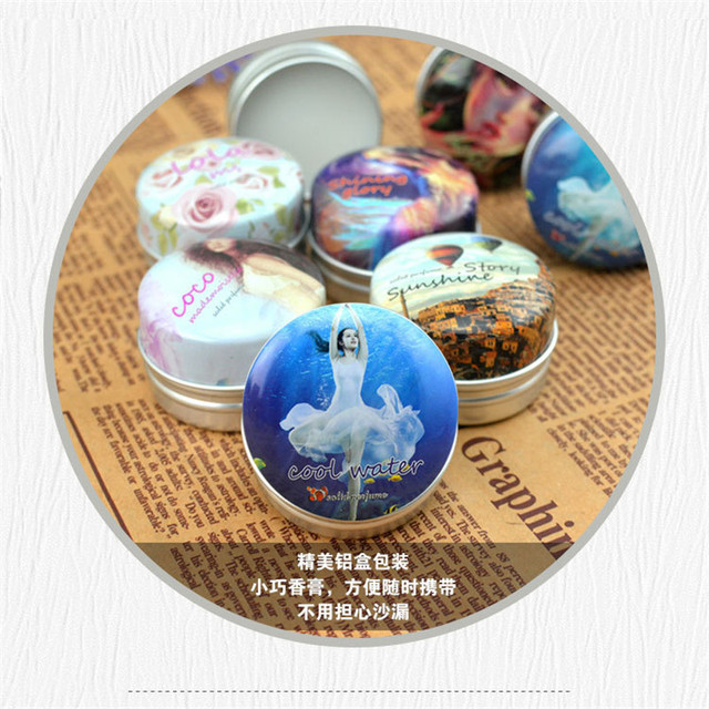 1pc Eau De Parfum 15g Women Soild Perfume Feminino Portable Box Flower Fruit Fragrance Floral Cream Female Parfum Metal Casing 4