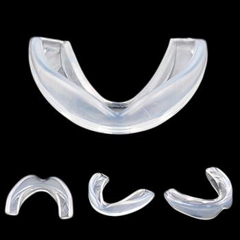 Silikonowy ustnik ochraniacz zębów boks Baseball jednostronnie ochraniacz na zęby sportowe ochraniacze na zęby sportowe akcesoria ochronne tanie i dobre opinie TONQUU