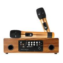 Беспроводной микрофон домашний караоке динамик Мощность усилитель