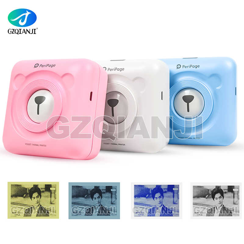 Saku Printer 58Mm Mini Portable Bluetooth Wireless Kertas Foto Printer Saku Thermal Printing Koneksi USB Impresoras Foto