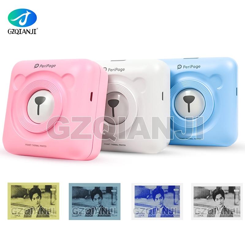 Pocket Printer 58mm Mini Portable Bluetooth Wireless Paper Photo Printer Pocket Thermal Printing USB Connection Impresoras Fotos