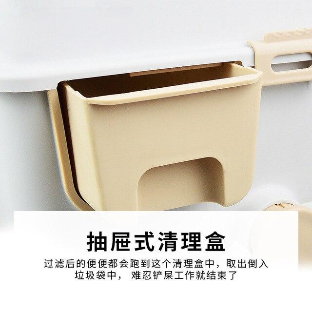 Semi-Automatic Quick Clean Cat Litter Box 3