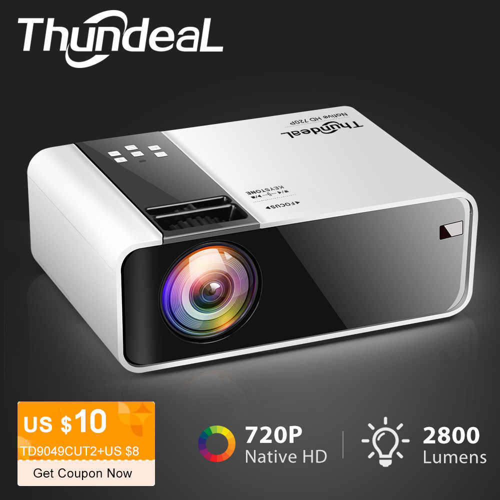 Thundeal hd mini projetor td90 nativo 1280x720 p led android wifi projetor vídeo cinema em casa 3d hdmi filme jogo proyector