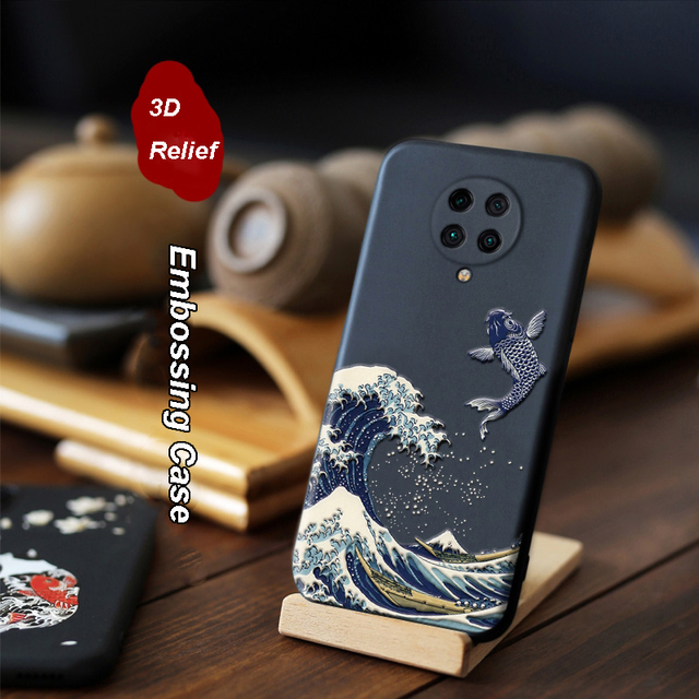 for Xiaomi Redmi K30 Ultra K20 Pro K20 Mi 9T POCO X2 F2 Case 3D Relief Emboss Matte Soft Cover LICOERS Official Case Funda Shell