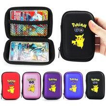 Pokemon Pikachu oyun kartları 50 kapasite kartları tutucu albüm sert çanta kart tutucu kitap tutucu kulaklık saklama kutusu yılbaşı hediyeleri