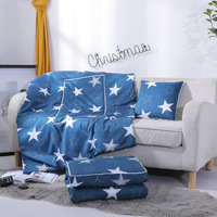 INS Wind Multi functional Cushion Cover Creative Dual Purpose Pillow Blanket Gift Pillow Custom Logo Summer Cool Airable Cover