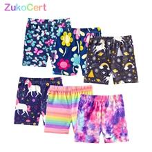 3pc Summer Kids Girls Shorts Pants for 4-10 Year Children Underpant Safty Shorts Pant Girl Print Short Beach Pants Soft Leggings