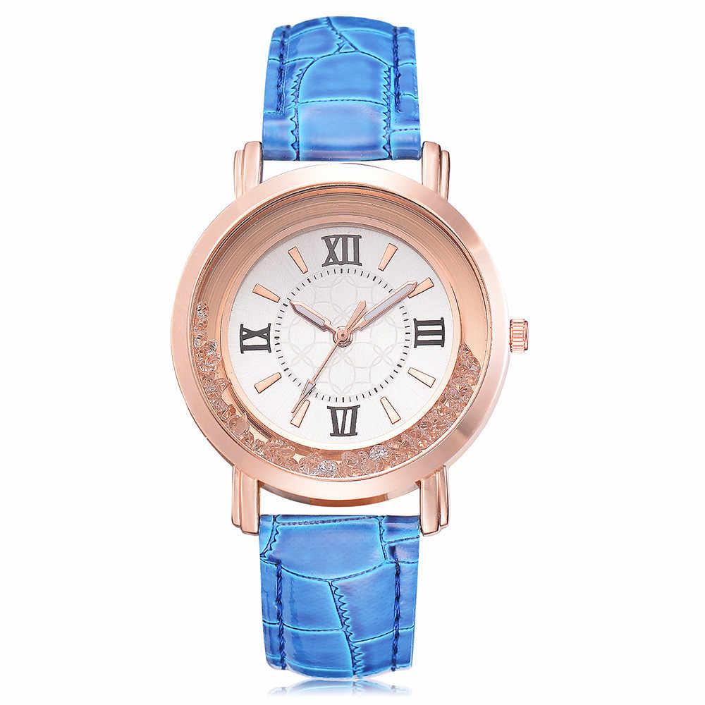 Femmes montres 2019 marque de luxe Quartz cuir Simple Reloj Mujer décontracté Zegarek Damski Relogio Femino avec strass cadeaux