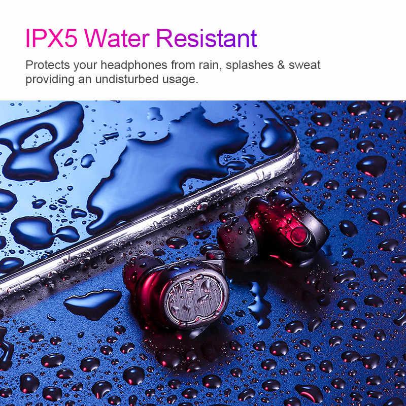 T8 sterowanie dotykowe bezprzewodowe słuchawki TWS Bluetooth sportowe V5.0 zestaw słuchawkowy prawda douszne 6D Stereo głowy-darmowe IPX5 wodoodporna
