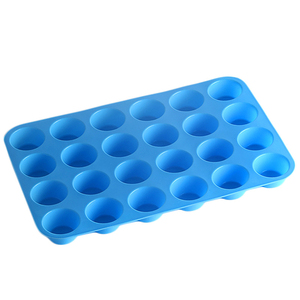 Image 3 - ミニマフィンカップ 24 穴シリコーン石鹸型耐熱皿ミニケーキパントレイ金型ホーム diy ケーキベーキングツール金型