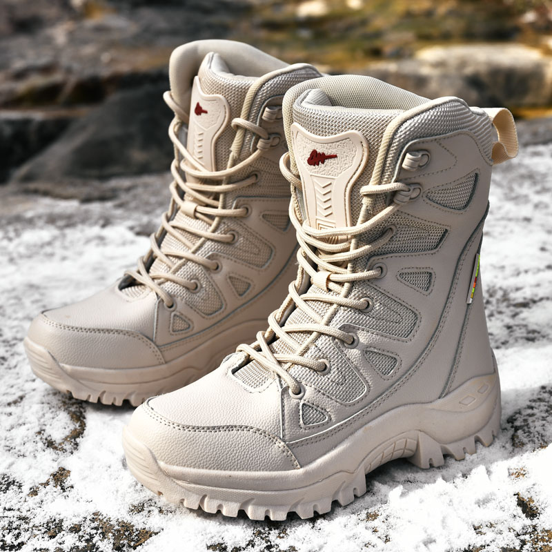 Comfort Beige Outdoor Hiking Boots Couple Men Trekking Shoes Women Big Size Military Tactical Boots For Men scarponi da montagna