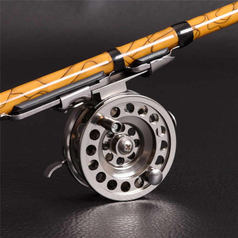 Prata pesca no gelo whee liga de alumínio rolamentos de esferas alta qualidade privada carpa carretel pesca pesca equipamento