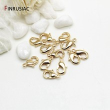 14k real ouro chapeado 10mm 12mm lagosta fechos para fazer jóias artesanal diy pulseiras colar fecho encaixes