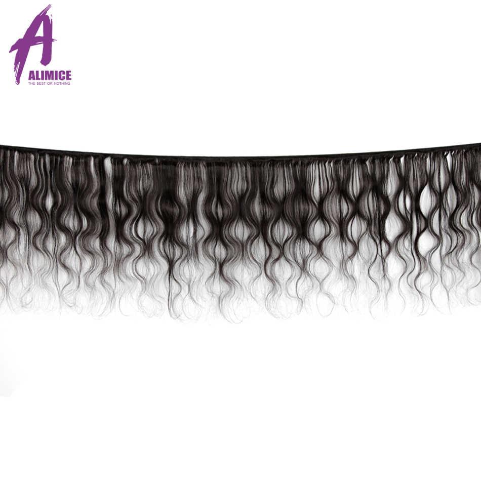 Alimice 3 пучка индийские объемные волнистые волосы плетение пучки 100% человеческие волосы ткачество remy волосы для наращивания 8-30 дюймов натуральный цвет
