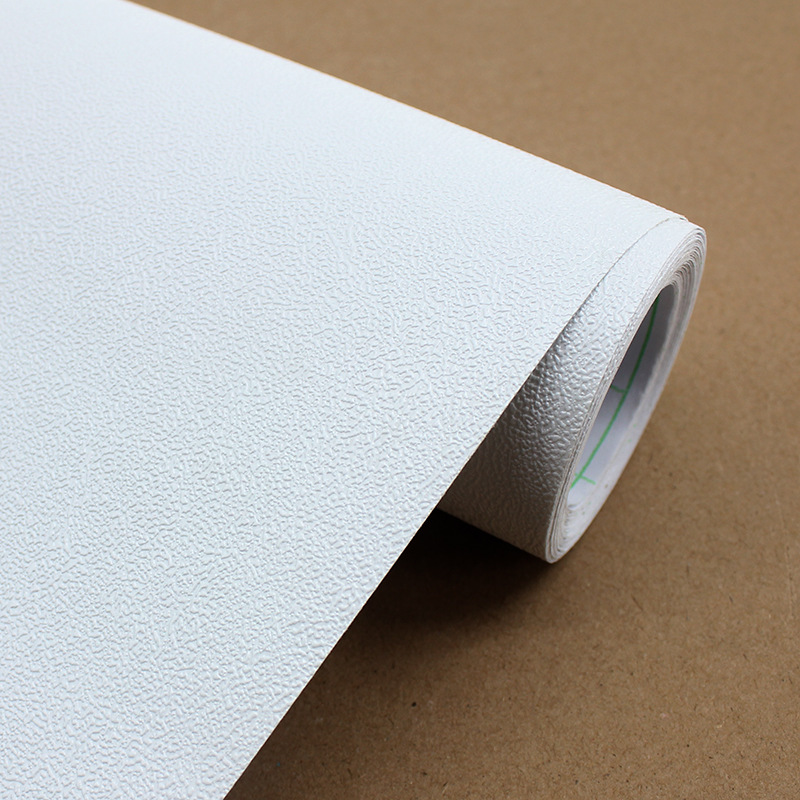 Northern European-Style Plain Color Diatom Mud White Wallpaper PVC Self-adhesive Wallpaper Living Room Bedroom Wall Solid Color