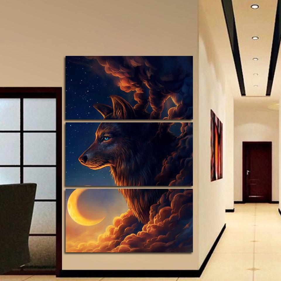 3 Piece Poster Heavenly Hound Home Decor Canvas Wall Art for Home Decorations Wall Decor Canvas Painting Wholesale(China)