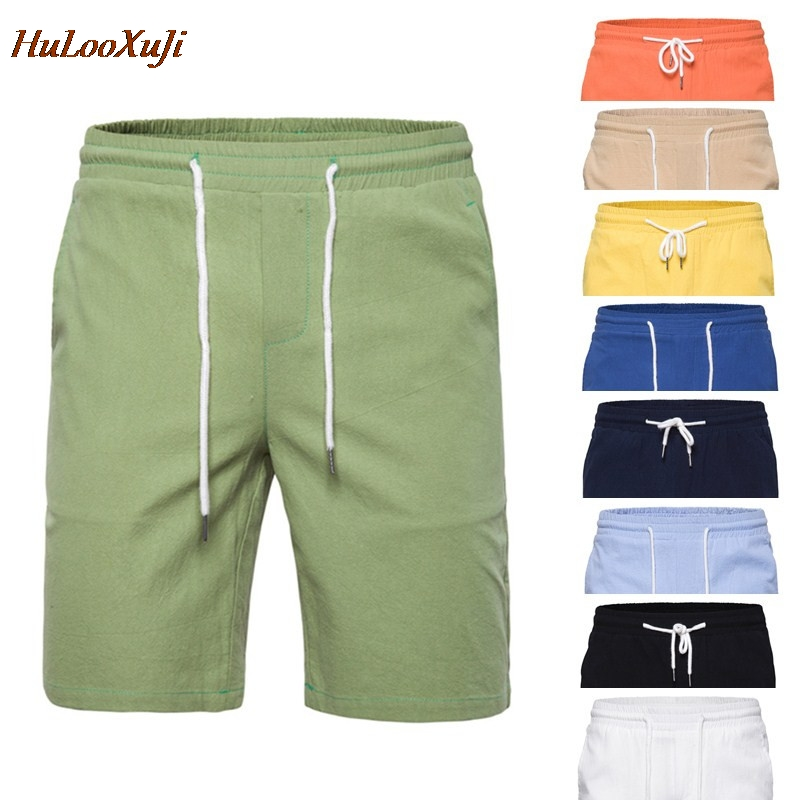 Hulooxuji Casual Shorts Mens Summer Fashion Solid for Male US Size:Xs-2xl 9-Colours
