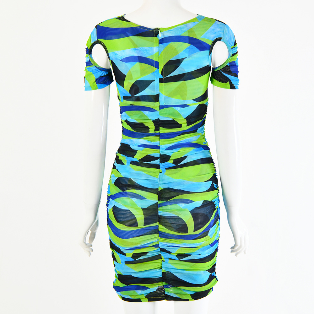 Новинка осени 2020 женское Плиссированное Платье с принтом и
