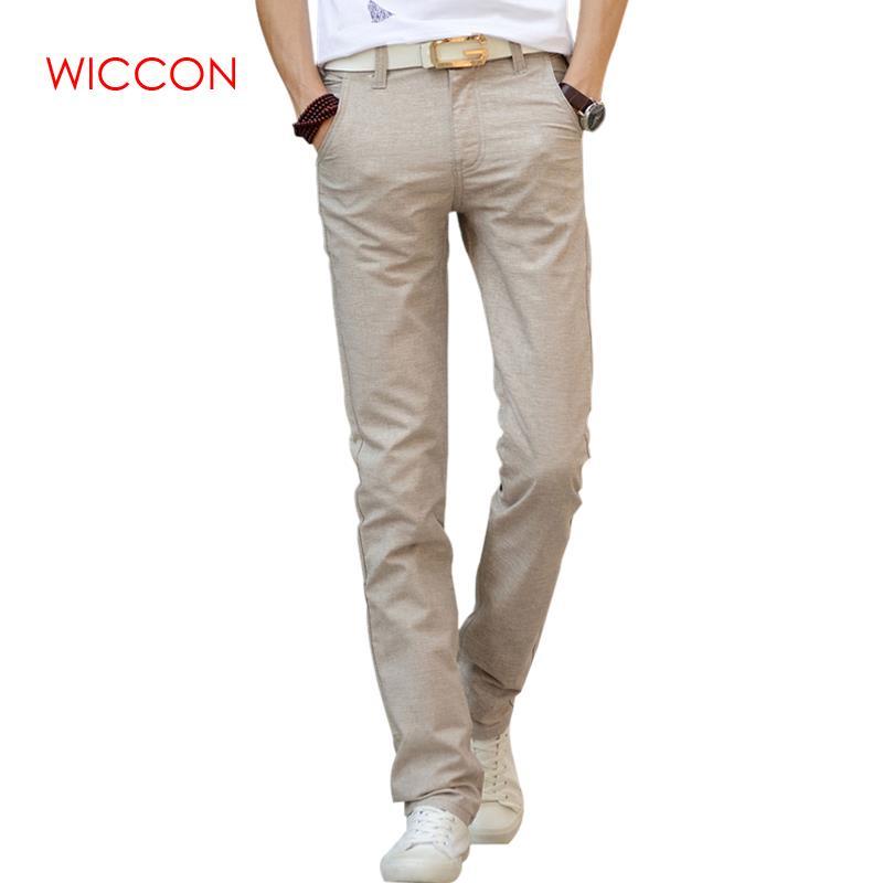 2020 New Fashion High Quality Men's Linen Pants Men Casual Spring Autumn Trousers Men Pantalones Male Pants Size 38