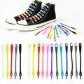 14pcs Lazy Silicone Shoelaces Round Elastic Shoe Laces Special No Tie Rubber For Sneakers Fit Strap Cordones elásticos perezosos