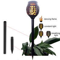 Solar 96LEDs Lawn Dancing flame Torch Lights radar 3 working mode Edison2011 Lamp Gard to Landscape Garden Li